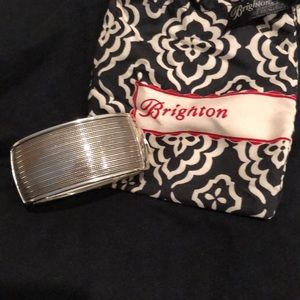 Brighton thick silver bangle bracelet